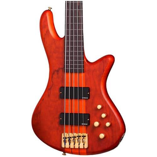 Schecter Guitar Research Stiletto Studio-5 Fretless Bass Guitar